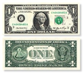 U. S. Dollar Bill Front and Back