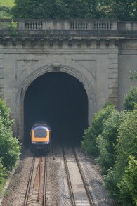 Box Hill Tunnel with Modern Engine