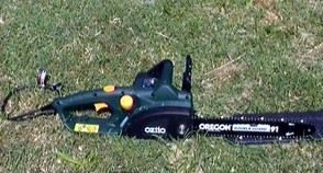 My Ozito Chainsaw after a days work