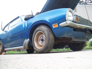 1970 Ford Maverick with Side Pipes