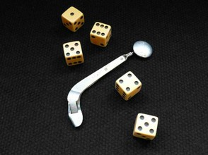 Wyatt Earp's Gambling Dice and Secret Card Feeder