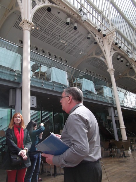 Our Tour Guide at The Royal Opera House, Covent Garden
