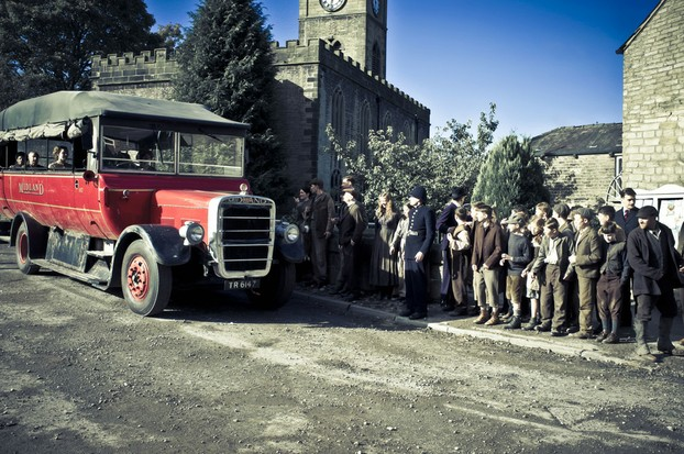 The first ever bus arrives in the village