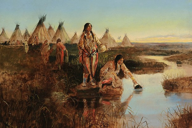Water for Camp by Charles Marion Russell