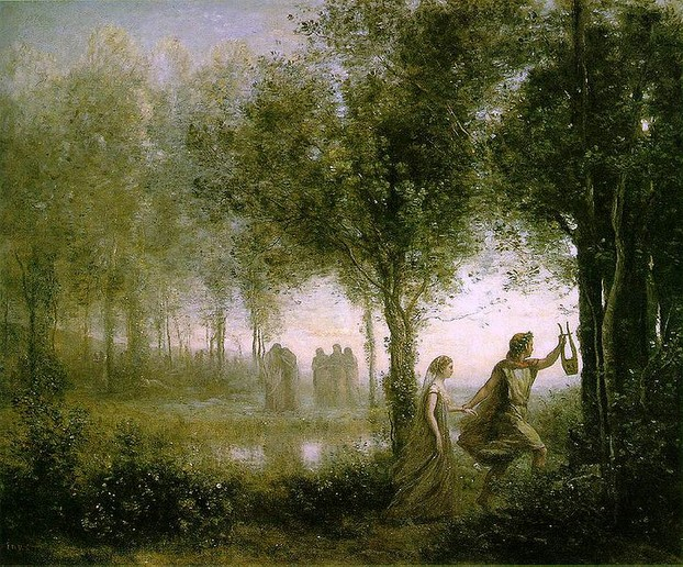 Orpheus Leading Eurydice from the Underworld - Jean-Baptiste-Camille Corot