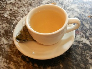 Dragonwell Green Tea - Cup and Tea Bag