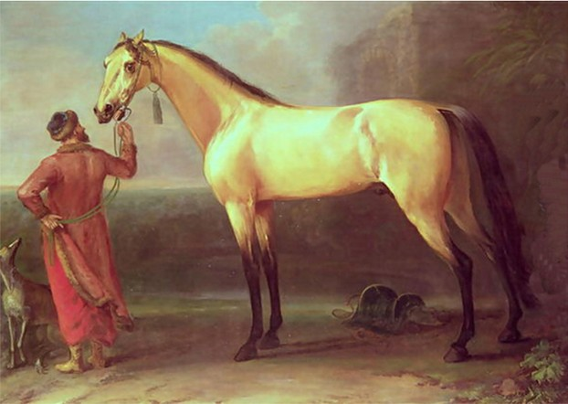 The Oxford Dun Arabian (probably Turk or Barb) foaled ca. 1710