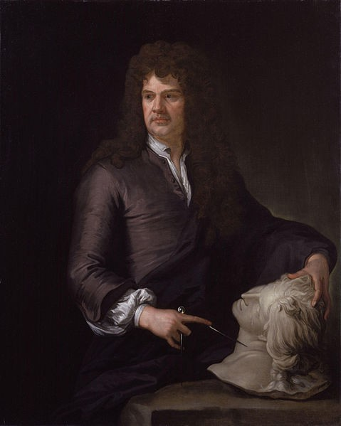 Portrait of Grinling Gibbons by Sir Godfrey Kneller