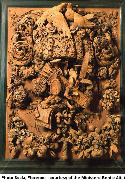 Carved panel known as the panel of Cosimo III