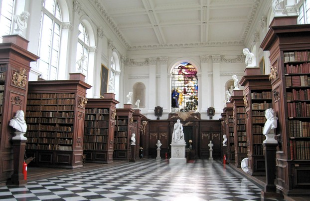 Wren Library Cambridge with Carvings by Grinling Gibbons