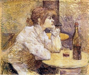 "Suzanne modelled for Lautrec's ""The Hangover"""