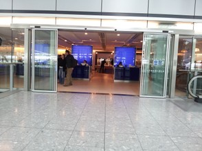 Entrance to the Terrace Lounge on the Main building of LHR Terminal 5