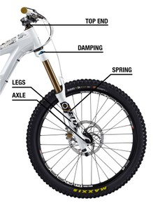 Bike suspension fork terminology