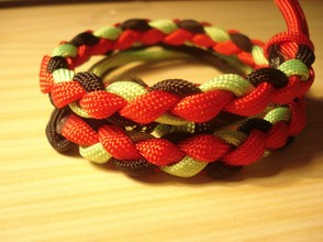 Paracord three color braid
