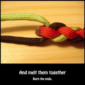 Melt the ends together