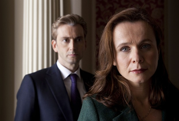 David Tennant and Emily Warson in The Politician's Husband