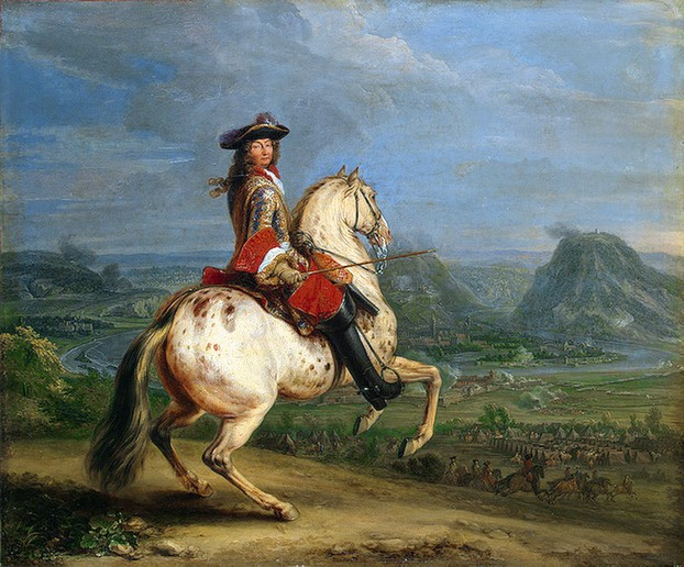 King Louis XIV of France on his leopard stalion