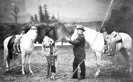 Chief Joseph and his horse