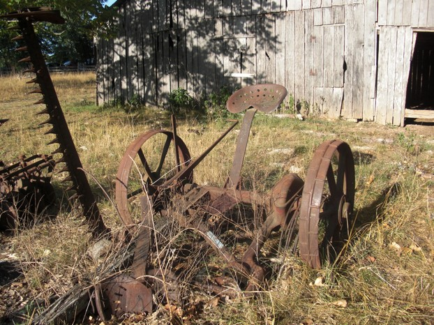 Antique Farming Equipment: Horse Drawn Tractor