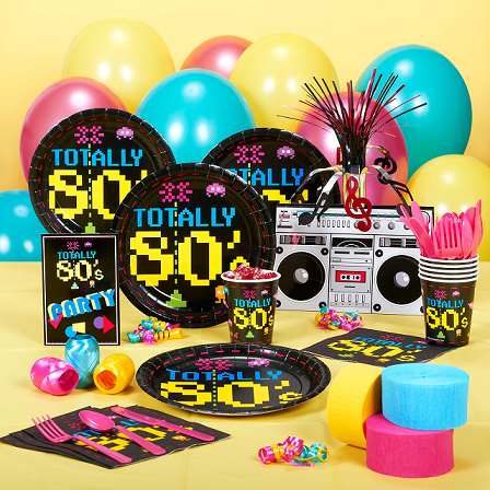 Pac man party supplies for 80s decoration ideas
