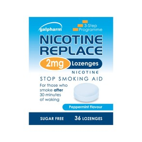 GALPHARM Nicotine Replace PEPPERMINT Flavour 2mg Lozenges 36's