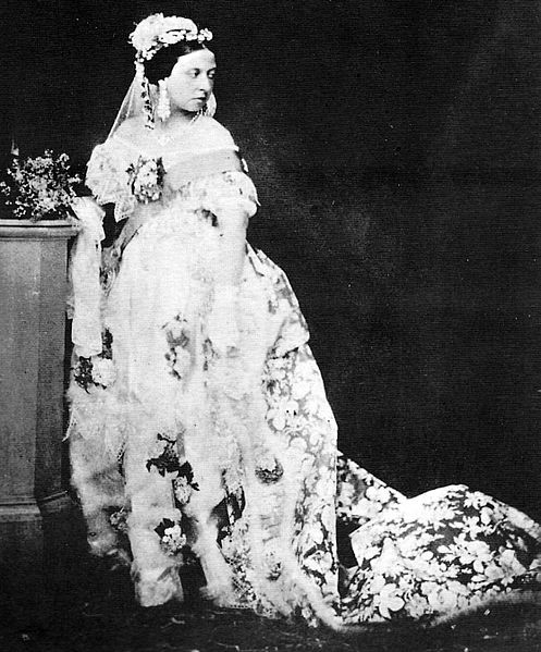 Queen Victoria in Her Wedding Dress