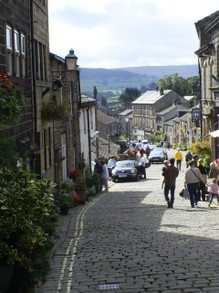 View Down Haworth Main Street from Bronte Parsonage