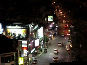 Tapae Gate area, Chiang Mai, at Night