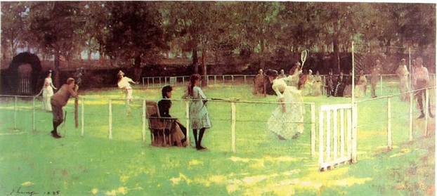 The Tennis Party by James Lavery