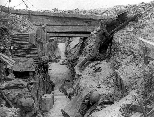 British Soldier in a Trench, 1916