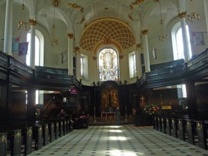 Interior of St. Clement Danes Curch