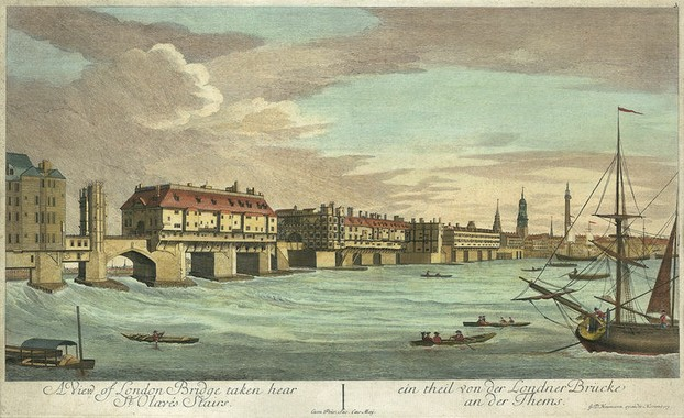Old London Bridge c.1750