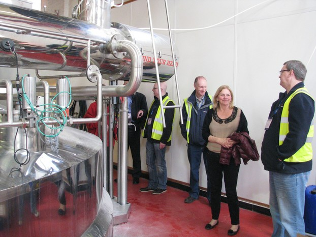 Touring Marston's Brewery in Burton-on-Trent