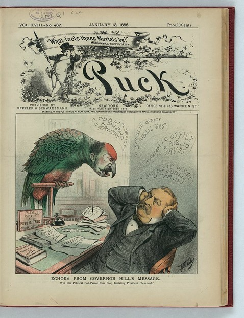President Cleveland and Parrot