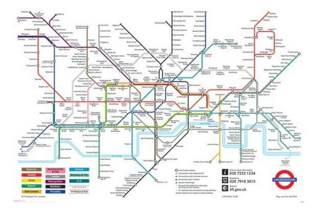 Modern Map of London Underground