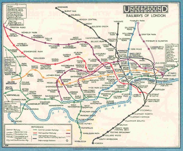 Fred Stingemore's Map of the London Underground
