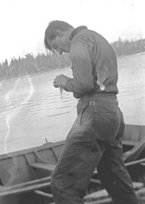 Tom Thomson fishing in Algonquin Park.