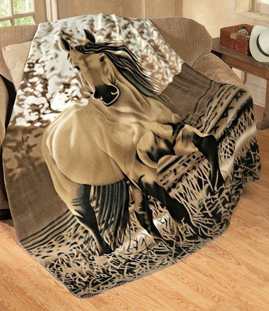 Buckskin Horse Throw from Collections Etc.