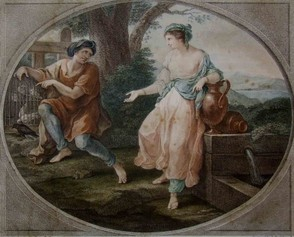 Aesop and Rhodopis by Angelica Kauffmann