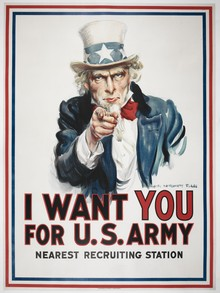 James Montgomery Flagg (artist), I want You for U.S. army, c.1917.