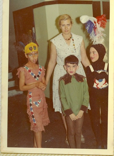 Myself, my mother, my brother, and my sister for a show put on by the ballet school we attended.