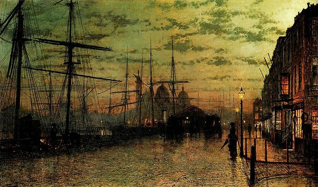Humber Docks by Atkinson Grimshaw