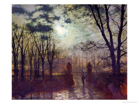 At the Park Gate - John Atkinson Grimshaw