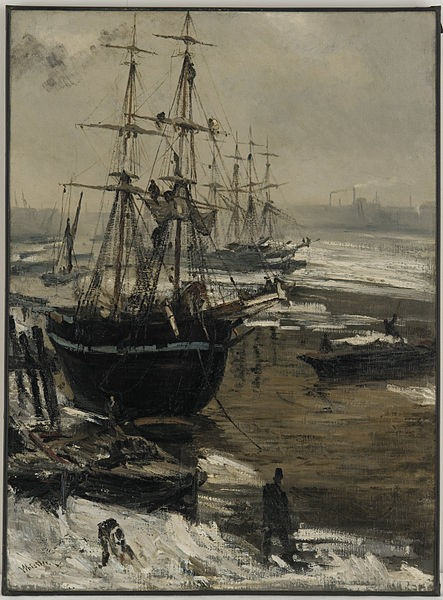 The Thames in Ice, James McNeal Whistler