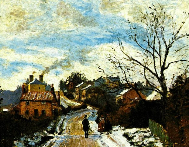 Upper Norwood in the Snow - Camille Pissarro