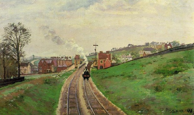 Lordship Lane Railway Station - Camille Pissarro