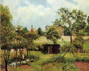 View Across Stamford Brook Common - Camille Pissarro