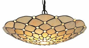 Tiffany Glass Pendant Shade Uplighter