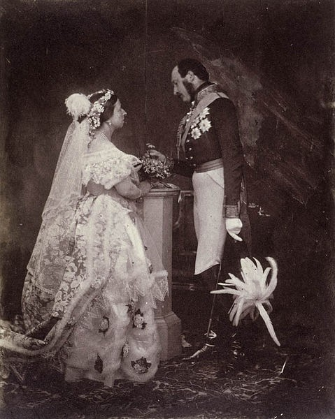 Queen Victoria\'s Wedding Dress - On Show at Kensington Palace, London