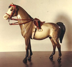 Winning photo show entry from about 1969. No background, homemade saddle and bridle.